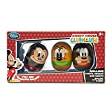 Disney Mickey Mouse, Pluto, and Goofy Rolling Toy Set