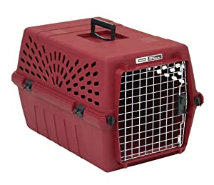 Petmate Deluxe Pet Porter Jr. Kennel, Intermediate, Samba Red