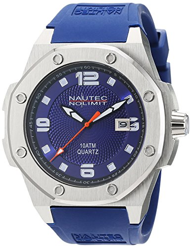No limit Nautec hombre-reloj analógico de cuarzo Sailfish caucho SF QZ2/RBSTSTBL