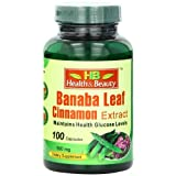 Health & Beauty Banaba Leaf Cinnamon Extract Capsules 500mg, 100 Count