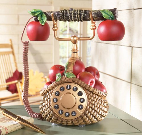 Apple Decor Basket Phone by Winston Brands
