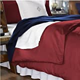 "Lauren by Ralph Lauren Bedding, ""Lawton"" Berry Red Duvet Cover, King"
