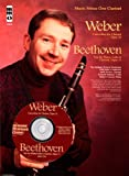 img - for Music Minus One Clarinet: Weber Concertino, op. 26, J109; BEETHOVEN Piano Trio No. 4, 'Street Song,' op. 11 (Book & CD) book / textbook / text book
