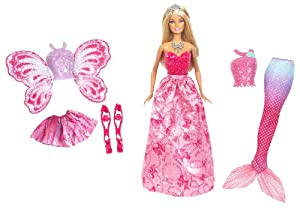 Mattel X9457 - 3-in-1 Fantasie Barbie, Puppe