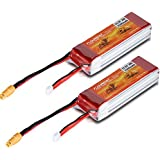 Floureon 2x 3S 11.1V 2200mAh 25C RC Rechargeable Lipo Battery XT60 Plug for DJI Phantom FC40 Spare Walkera E22RC Quadcopter