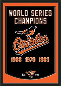 Dynasty Banner Of Baltimore Orioles With Team Color Double Matting-Framed Awesome... by Art and More, Davenport, IA