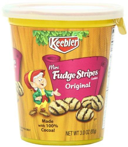 Keebler Mini Cookies Cup, Fudge Stripe, 3 Ounce (Pack of 10 ...