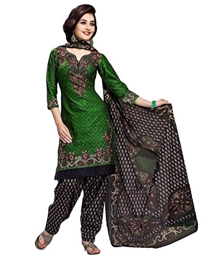 Miraan Women's Cotton Unstitched Salwar Suit Dress Material (Sg313 _Green _Free Size)