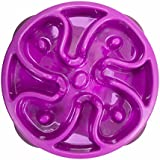 Outward Hound Kyjen  51005 Fun Feeder Slow Feed Interactive Bloat Stop Dog Bowl, Small, Purple