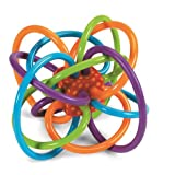 "Manhattan Toy Winkel Rattle and Teether     Imaginations at Play!   Time Honored Classic  The Winkel rattle and teether, by Manhattan Toy, is an award winning classic, a true ""must have"" for parents and infants. Its maze of soft, continuous tub..."