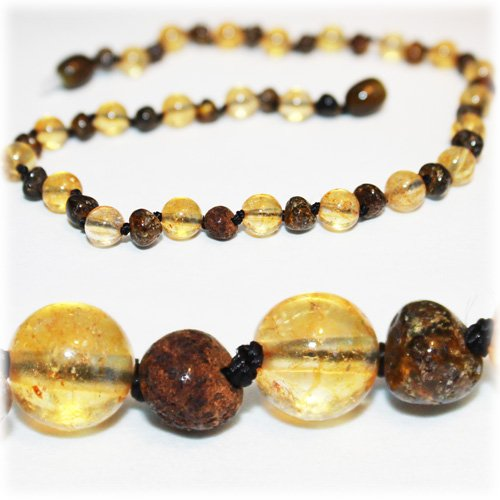 The Art of Cure Baltic Amber Teething Necklace for Baby (Rare green/Citrine) - Anti-inflammatory - 1