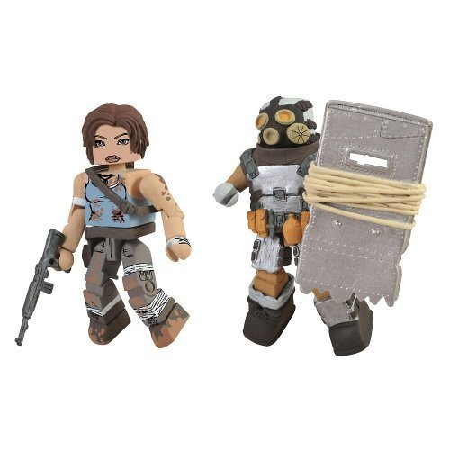 Tomb Raider Minimates Battle Damaged Lara Croft and Armored Scavenger