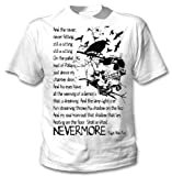 Edgar Alan Poe Nevermore Quote- Amazing Graphic T-Shirt