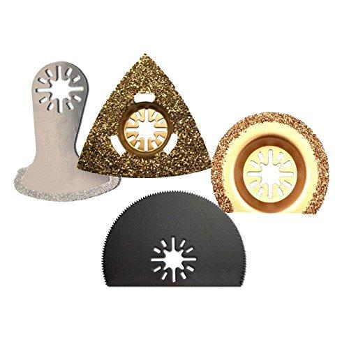 Carbide & Diamond Multitool Oscillating Tool Saw Blade Kit Fits Fein Multimaster Bosch Ryobi Skil Dremel Makita