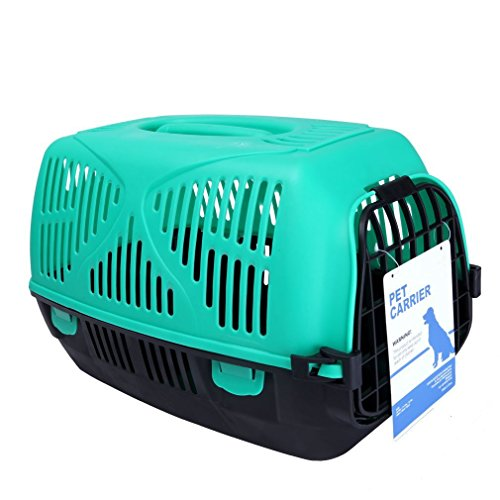 Gardner Pet THE BEST Standard Size Fashionable Lightweight Pet Kennel, Green and Black