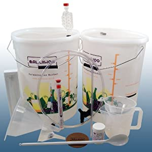 Home Brew & Wine Making - Balliihoo® Basic Starter Kit For 30 Bottles Of Wine
