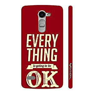 Enthopia Designer Hardshell Case Everything is going to be OK Back Cover for LG Ray