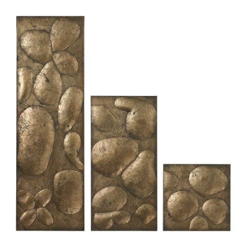 Sterling Industries 138-020/S3 Ramsey Wall Panels in Gold Leaf, Set of 3