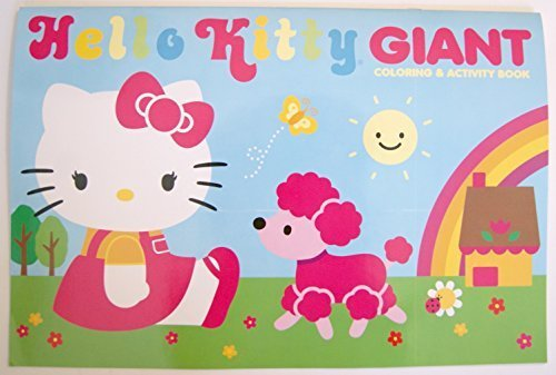 Hello Kitty Blue Giant Coloring and Activity Book - 1