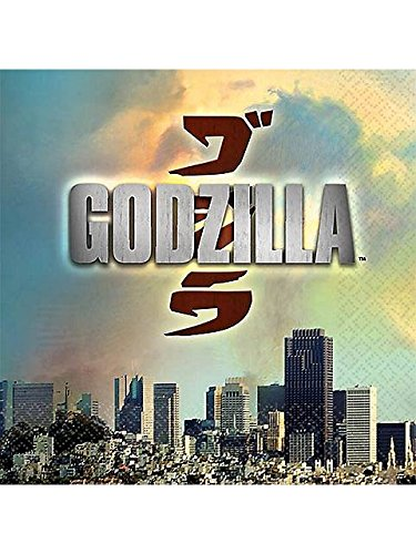 Godzilla 2014 Party Beverage Napkin-16 count