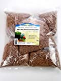 "Certified Organic Hard Red Wheat Seed: 5 Pre-Measured Bags (Approx 5 Lbs) for 10""x20"" Trays For Growing Wheatgrass to Juice, Sprouting Seed, Grinding to Make Flour & Bread, Growing Ornamental Wheat Grass & More - High Germination - Non-GMO"