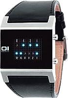 The One - KT102B1 - Kerala Trance - Montre Homme - Quartz Led - Cadran Noir - Bracelet Cuir Noir