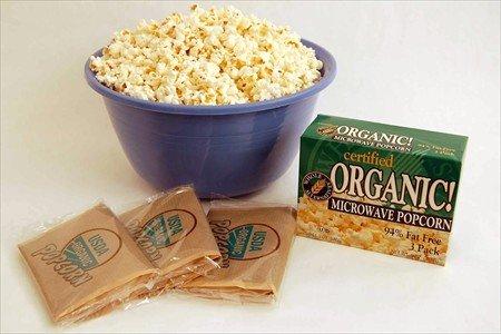 Certified Organic Gourmet Microwave Popcorn - 1 Box - 3 Packs Per Box - Pop Corn / Popping Korn