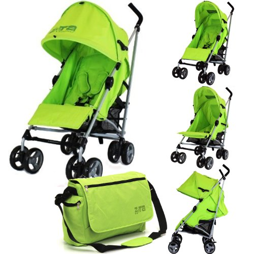 Baby Stroller Zeta Vooom Buggy Pushchair - Lime Complete With Changing Bag + Raincover