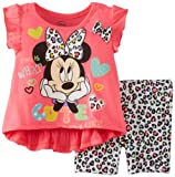 Disney Baby-Girls Minnie Infant Girl Bike Short Set, Pink, 12 Months