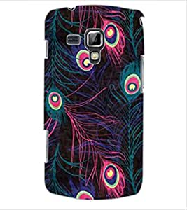 ColourCraft Beautiful Peacock Feathers Design Back Case Cover for SAMSUNG GALAXY S DUOS 2 S7582