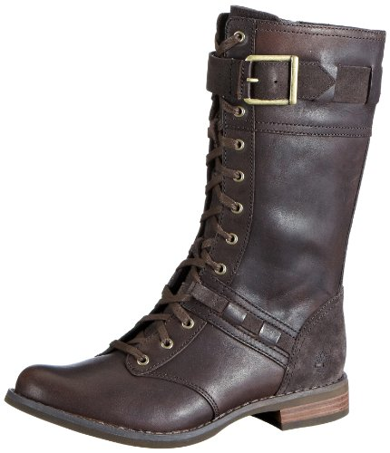 Timberland Women's Savin Hill Mid Lace Boot,Dark Brown,9 M US