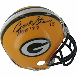 Bart Starr Signed Autograph Green Bay Packers Mini Helmet Authentic Certified Coa by Riddell