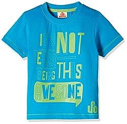 UFO Boys' T-Shirt (AW-16-KC-BKT-203_Blue_2 - 3 years)
