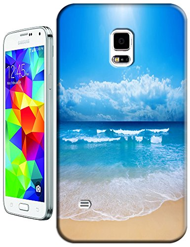 Cell Phone Case Beach Design Beautiful Sunshine Water Trees For Samsung Galaxy S5 I9600 No.8 front-675495