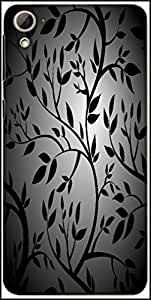 Snoogg Black Trees Seamless Vector Wallpaper Designer Protective Back Case Cover For HTC Desire 826