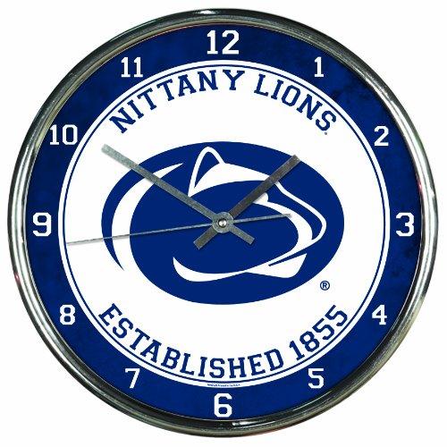 NCAA Penn State Nittany Lions Chrome Clock