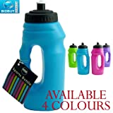 Sports Bottle - One Handed - Pop-Up Top - Carry Handle (Blue)