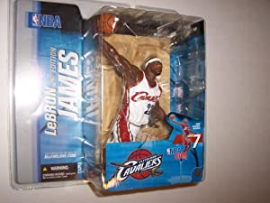 Mcfarlane Sports Picks NBA Series 7 Lebron James 2nd Edition in Variant Cleveland Cavaliers White Jersey