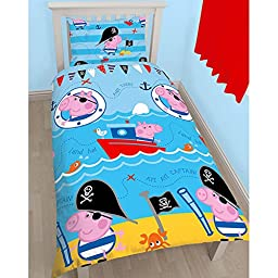 Peppa Pig George Pirate Single/ US Twin Duvet Cover and Pillowcase Set