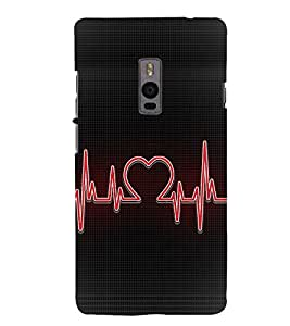 Heart Beat 3D Hard Polycarbonate Designer Back Case Cover for OnePlus 2 :: OnePlus Two :: One +2