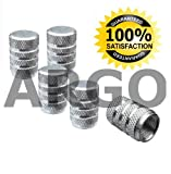 CHROME SILVER VALVE DUST TYRE WHEEL CAPS AUDI TT COUPE