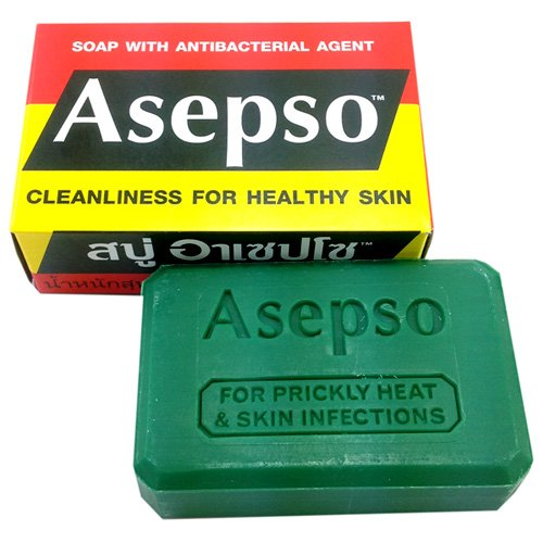 Asepso Antibacterial Agent Soap 2.8 Oz / 80 G (Pack Of 8) From Thailand back-426709