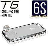 iPhone6s ケース T6 メタルバンパー 高品質アルミ製 カメラレンズガード・ストラップホール付(iPhone6s, ガンメタリック)