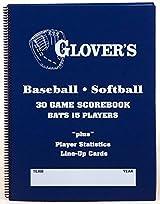 Glover's BB-106 Baseball/Softball Scorebook (30 Games)