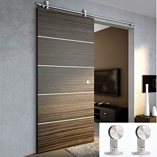 Tcbunny 6 ft 7 inch modern stainless steel interior for Sliding entry doors
