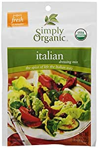 Simply Organic Salad Dressing Mix, Italian, 0.70 oz (Pack of 12)