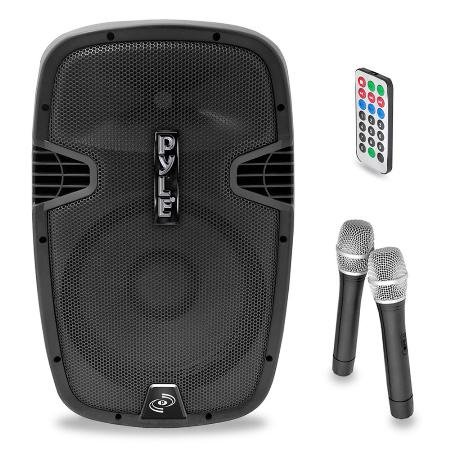 "Bluetooth Portable 12"" Pa Speaker With Wireless Microphones"