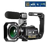 Ordro AC3 4K Camcorder 3.1 IPS Ultra HD WiFi Video Camera (Black)