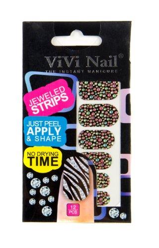 ViVi Nail ヴィヴィ ネイルシール 貼るだけ jeweled strips NS014ー617