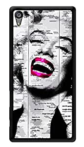 "Humor Gang Marilyn Monroe Newspaper Art Printed Designer Mobile Back Cover For ""Sony Xperia Z5"" (3D, Glossy, Premium Quality Snap On Case)"